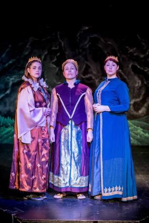 Brigid (Sarah Jean Tilford), Boudicca (Jessica Goforth), and Maeve (Katy Jenkins)