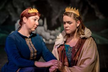 Maeve (Katy Jenkins) hatches a plan to save Brigid (Sarah Jean Tilford) from the war